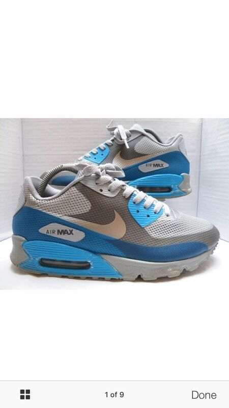 new arrival e3134 74233 Very Rare collectors item Nike Air Max 90 Hyperfuse Midnight Fog blue Glow  size 8