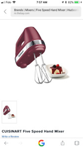 Cuisinart hand mixer ( never used)