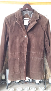 Women's Brown 100% Suede Leather Jacket