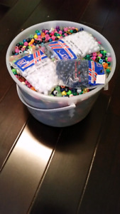 LARGE BUCKET OF PONY BEADS