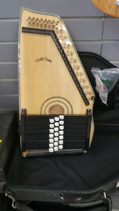Gold Tone Electric Harp with Case