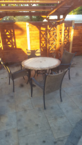 Dinning set table and chairs
