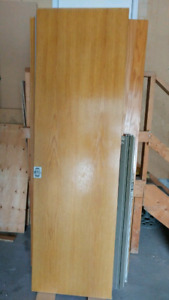Oak pocket door