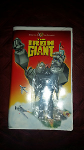 Iron Giant Clamshell VHS with colletible figure - factory sealed