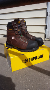Cat steel toe work boots