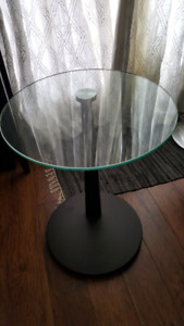 "Glass & Wood ""BOUCLAIR"" Side table"