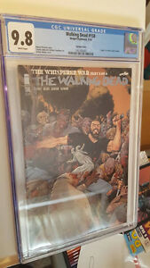 The Walking Dead #158, CGC Graded 9.8, Adams variant, death
