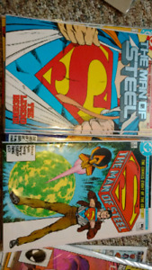 SUPERMAN MAN OF STEEL comic books ISSUE #1&#6
