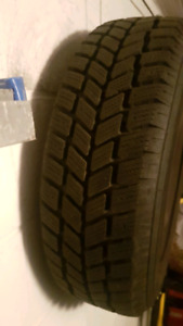Gently used winter wheels with tires