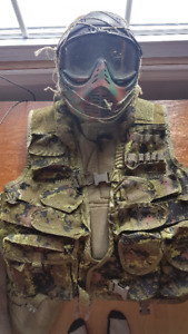 Airsoft / paintball Tactical Gear (Vest, Gloves, Helmet)