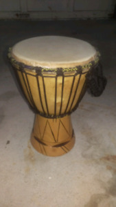 Djembe drum african authentic music instrument