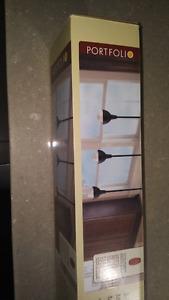 Portfolio 3-Light Matte Black Mini Pendant Light Fixture
