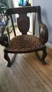 Rocking Chair Leopard Print claw footed