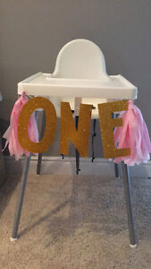 ONE highchair banners