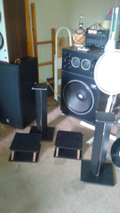 Two sets of speakers stands for sale
