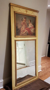 Large Trumeau Mirror! Looks like a French Antique