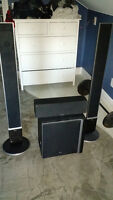 LG Receiver/5 Disc dvd changer(5.1 surround) and Speakers