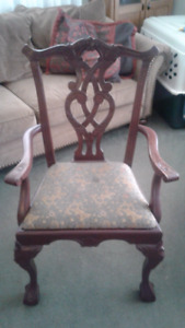 Ornate wooden chair