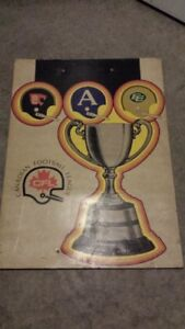 1972 CFL Grey Cup Poster Panel