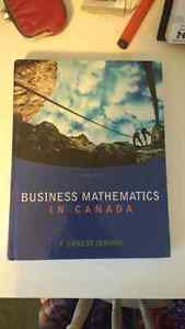Business Mathematics In Canada Cambridge Kitchener Area image 1
