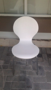 White and Chrome Utility Chair