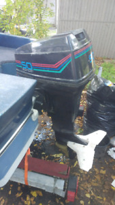 1990 Force 50 outboard  with power Trim