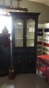 Antique Black Corner Cabinet