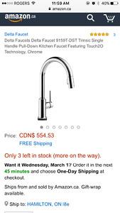 Delta touch kitchen faucet