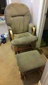 Rocking chair and foot stool/ottoman
