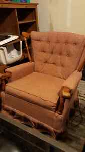 Great condition, solid construction large rocker chair