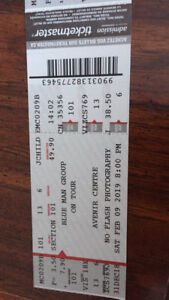 Three Blue Man Group Tickets for Moncton show