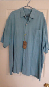 TOMMY BAHAMA -SHORT SLEEVE SHIRT- BLUE/GREEN