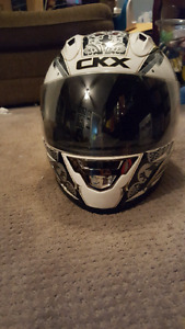 Motorcycle helmet, jacket, boots and gloves