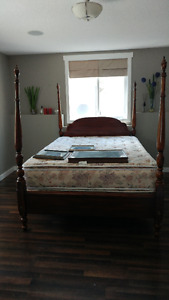 POSTER BED CHERRY WOOD