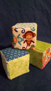 baby blocks and soother clips