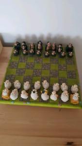 Jeu d'échecs petits moutons