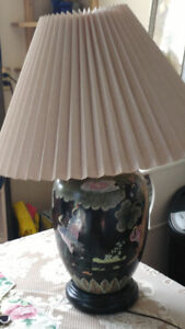 Beautiful large base lamps with Japanese design