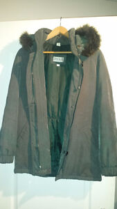 Braemar Fur Lined Hood Winter Coat Small