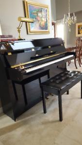 Yamaha Upright Black Piano (Model E108)