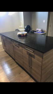 KITCHEN CABINETS GRANITE TOP IN MINT CONDITION FOR SALE