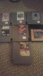 Lot of 7 NES games