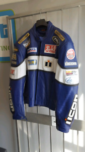 Matching Blue motorcycle jacket, helmet, gloves for sale!!
