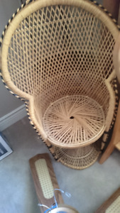 decorative wicker chair