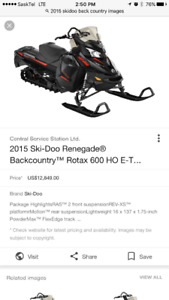 2015 ski doo back country 600ho