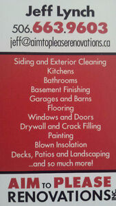 Pressure Cleaning for siding/gutters/garages/camps/boats & more!