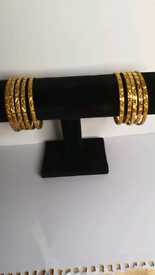 Gold plated Indian traditional Bangles
