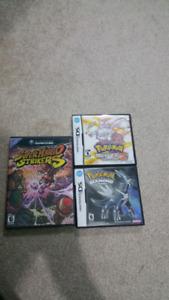 Pokemon Diamond & White Version 2 DS + Super Mario Strikers GC