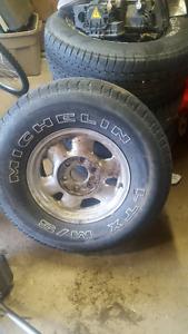 265/75r16 Michelin tires on gmc 6 bolt wheels
