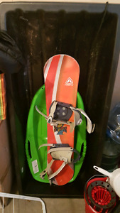 Kids sled and snow board