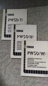 1987, 1988, 1989 Yamaha PW50 manuals